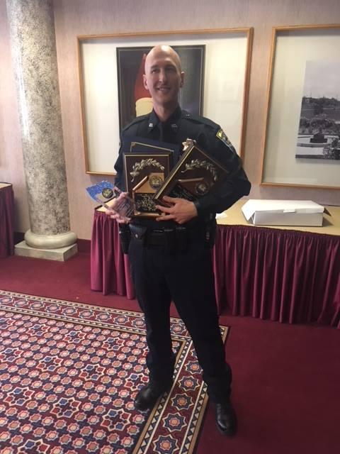 Officer Coy Sheets gets awards
